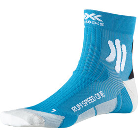 X-Socks Run Speed One Chaussettes, teal blue /arctic white